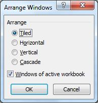 Tip 4: Displaying two worksheets at the same time To display two worksheets in a workbook on the screen, at the same time, in order to make it easier to complete work - do the following: Applies To