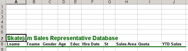 Excel Project 5 Creating Sorting, and Querying a Worksheet Database A Microsoft Excel table can function as a simple database (organized collection of data).