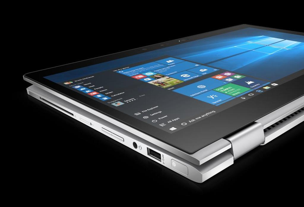 HP EliteBook x360 1030 G2 Business Ready Convertible Versatile. Convertible 360 design, can be used as a Notebook or a Tablet. 14.9mm and just 1.28Kg in a 13.