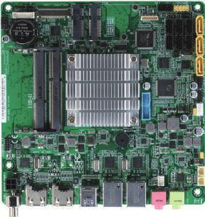 10 Industrial Motherboards EMB-BSW1 Thin Mini-ITX Embedded Motherboard with Intel N3710/N3060 Processor, SATA 6.0 Gb/s x 3, USB x 6 (up to 10) LVDS (Top) and edp (Bottom,optional) SODIMM x 2 USB 2.