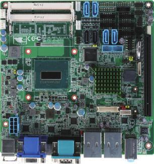 10 Industrial Motherboards EMB-QM87A Embedded Motherboard with Onboard 4th Generation Intel BGA 1364 Processor & iamt Support System Fan CPU Fan DDR3L1600/1333 SDRAM x 2 SATA 6.