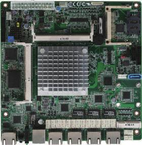 11 Networking Motherboards FWB-7250 4 LAN Ports Networking Motherboard with Intel Celeron J1900 Porcessor SoC Front View CPU Fan Power Pin 24-pin ATX Power DDR 3L SODIMM Socket x 2 CompactFlash