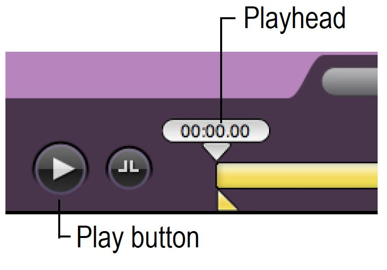 9. To watch a recording from the beginning, click the Play button. Or to advance to a specific portion of the recording, drag the Playhead to the desired position, then click Play.