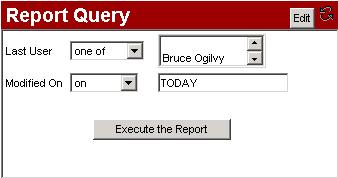 9.6 Report Instruments 9.6.1 Presentation Report instruments allow the user to execute and display an item or process by query report within the dashboard.