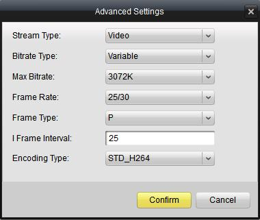 4.4.2 Video Quality On this page, you can configure parameters for main stream and sub stream separately.