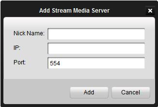 5.1 Adding a Stream Media Server When there are too many users want to get a remote access to the devices to get the live view or management, you can add the stream media server and get the video