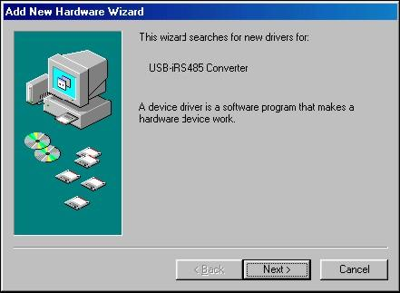 In future connection of USB-i485 modules, it is possible that Windows prompt again for the USB driver installation.