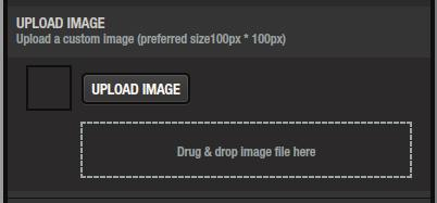 Click the [UPLOAD IMAGE] button and select an image, or drag and drop the image file into the frame shown in the illustration.