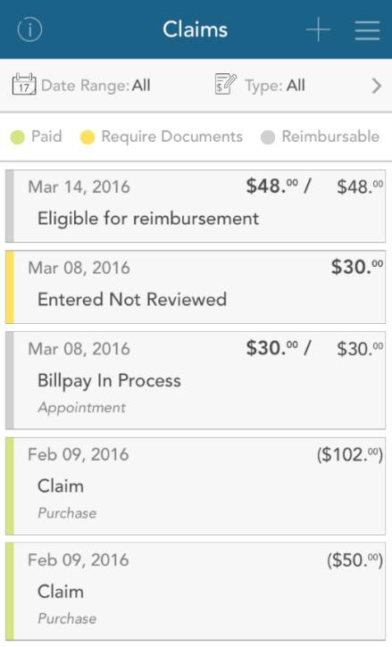 If you have a receipt to substantiate your claim, you will be able to take a photo of it with your device and