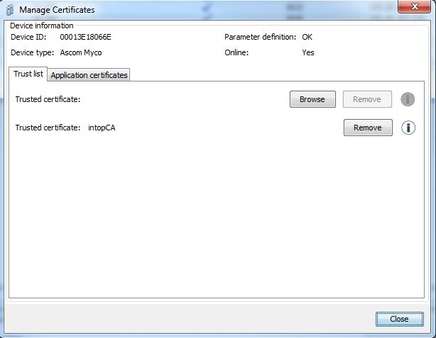 device by right clicking - > Manage Certificates.