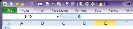 The Ribbon is minimized so only the Tabs show.