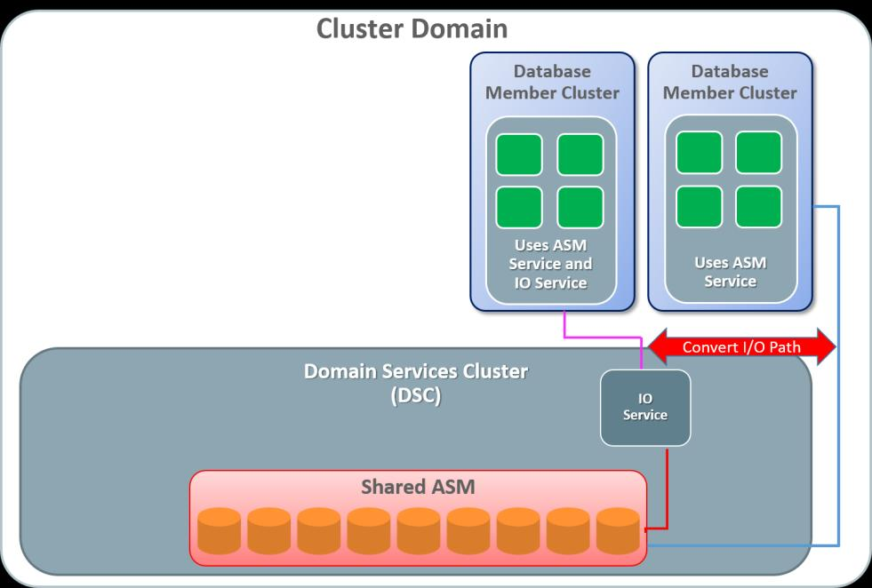 This conversion allows for the Database Member Clusters to convert from using the IOServer on the Domain