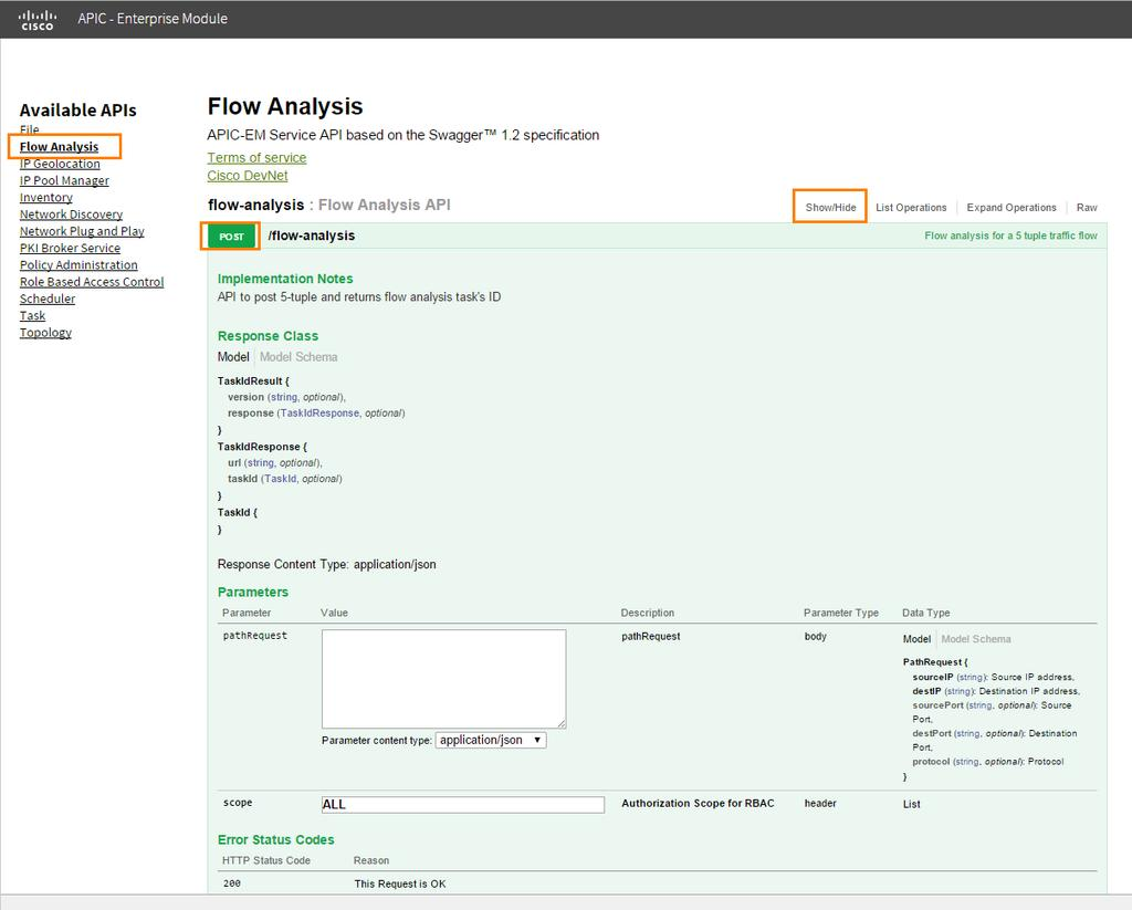Click Flow Analysis > Show/Hide > Post. Figure 24.