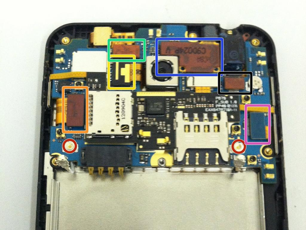 LG Escape (p870) LCD Screen Replacement Step 7 Wifi and