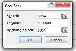cell field, and then click in the cell with the input you want to be