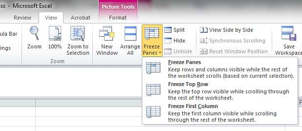 USEFUL EXCEL FUNCTIONS HONE YOUR EXCEL SKILLS FREEZE PANE Freezes Header/Selected Columns
