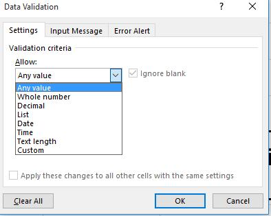 Example 1: Date Verification Step 1: In a given cell, select data validation