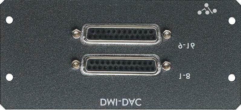 "2.4 DMI - ADC - DAC - AES Cards The DMI-ADC card provides 16 analogue inputs on 2 x 25 way ""D"" connectors The ADC card is a line card only. There is no microphone amplifier or phantom power available."