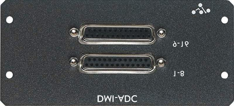 "Maximum input level +22dBu The DMI-DAC card provides 16 analogue outputs on 2 x 25 way ""D"" connectors DAC card is line level only."