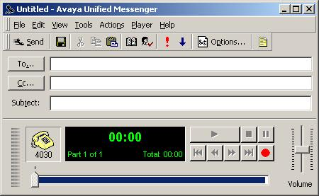 Avaya Unified Messenger Client User Guide How to use Avaya Unified Messenger Three new buttons appear on the button bar in your e-mail application when Avaya Unified Messenger is installed on your PC