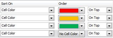 Cell Icon Cell Icons can be applied using Conditional Formatting (beyond the scope of these notes). Cell Icons are the modern way to apply RAG Ratings to your data.