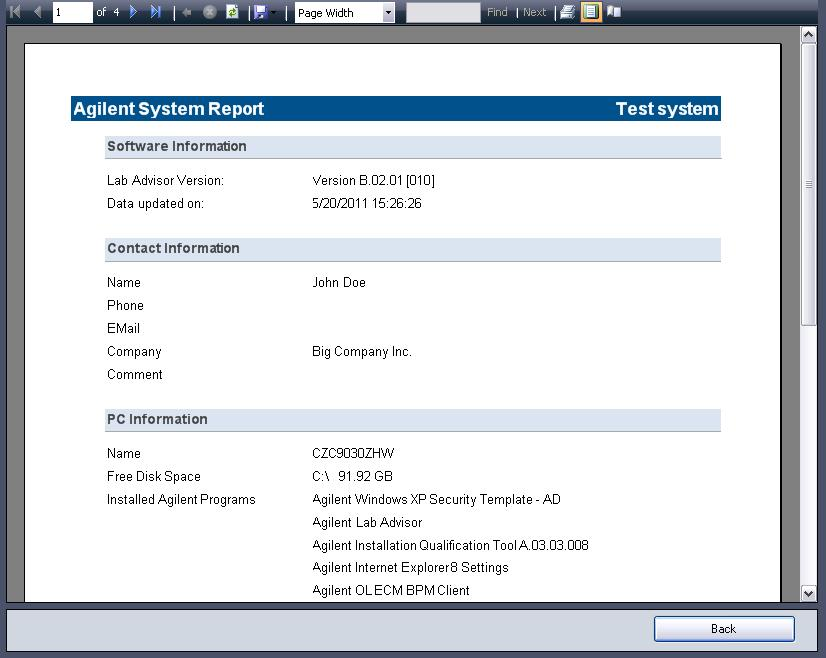 Using Lab Advisor 3 System Report however, that the receiver of the Status Report will be