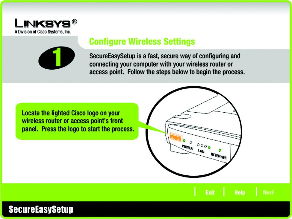 Figure 5-36: Configure Wireless Settings #1 Screen 3. Click the on-screen START button to continue.  To return to the previous screen, click the Back button.