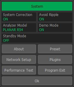 You can turn Demo Mode OFF later by clicking System -> Misc Setup->Demo Mode.