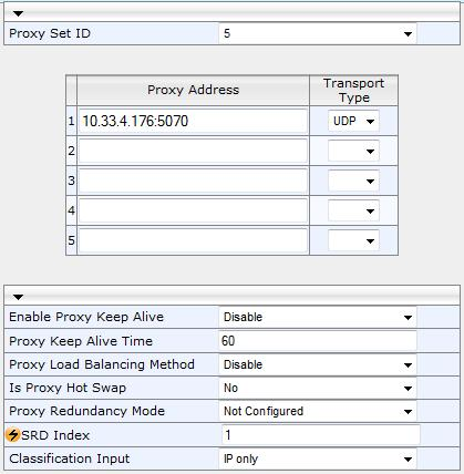 "SBC Architecture Options & Configuration Examples Figure 4-30: Proxy Set for PSTN Gateway 3. Click Submit, and then save your settings to flash memory (""burn"") with a device reset. 4.1.11.2."