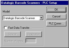 Figure 1 - Controller Setup dialog box As the Datalogic is a very simple protocol, only communication parameters are to be configured.