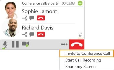 Audio and video calls Conference calls options (Mac) and click Invite to Conference Call.