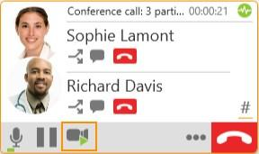 Audio and video calls Video conference calls Video conference calls Including video in a conference call When you start a conference call from established calls, video is automatically included if at