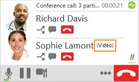 How video is shared The conference host, the person who started the conference call, serves as the host for the video feed. The video that the host sees is automatically sent to all participants.