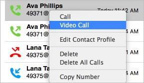 search for all calls made with a specific contact.