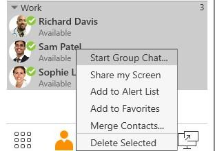 Once the first message has been sent, you cannot add or remove participants. Starting a group chat from contacts and favorites 1.