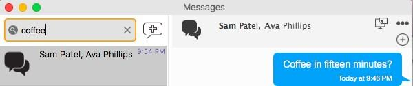 The session appears in the Messages pane.