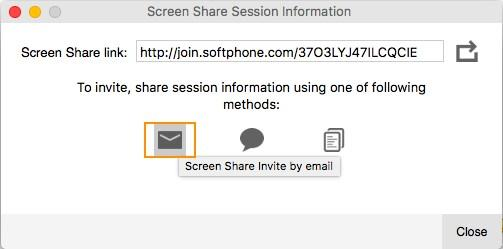 Screen sharing Inviting participants to view your screen share 3.