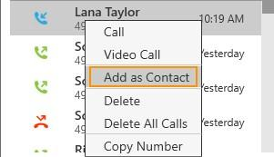 an entry that is not in your contacts.