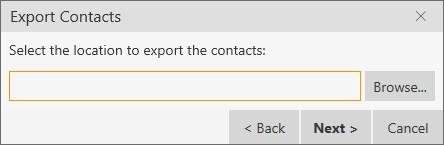 Exporting contacts You can export a contact list to a.