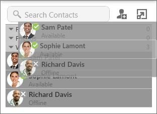 Contacts Editing a contact The contact or contacts are removed from the old group and added to the new group. Add and remove from multiple groups 1.