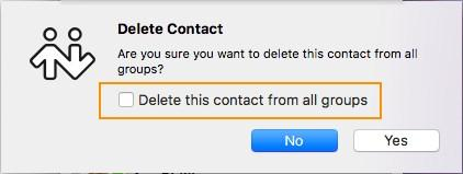 In the contact panel, use SHIFT+Click, CTRL+Click (Windows), COMMAND+Click (Mac), or any combination to select the contacts you want to delete. 2.
