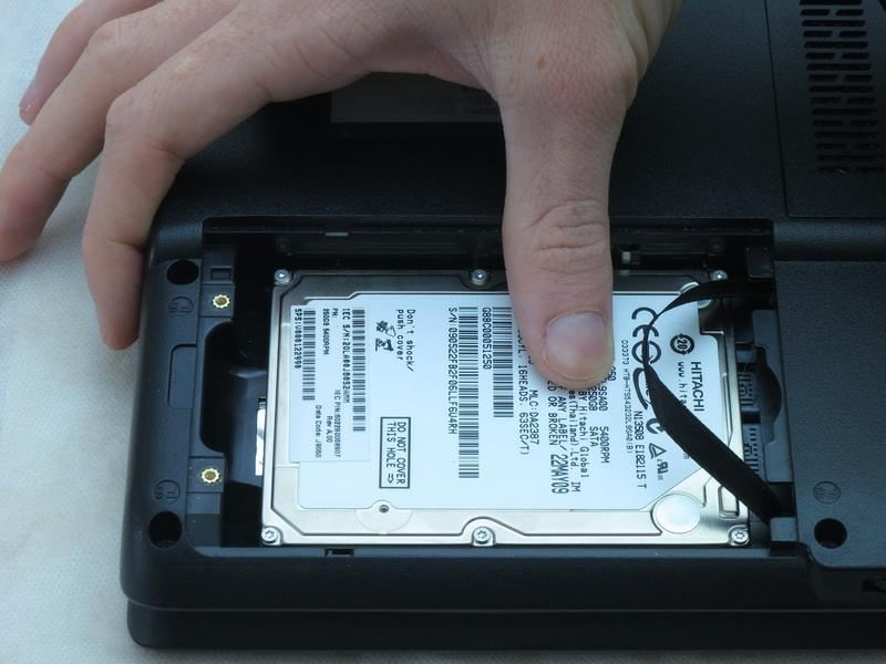 Step 6 Slide the hard drive to