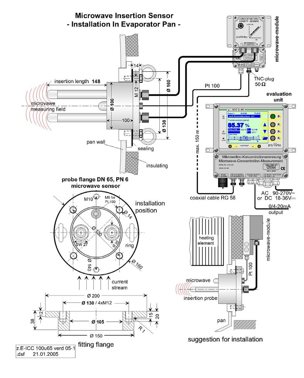Microwave Concentration Measurement Icc 245 Standard Manual Data Module Wiring Diagram Dimensional Drawings 14