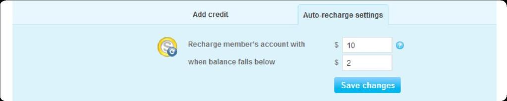 5. In the Add Credit tab, enter the amount of Skype Credit that you want to add to the SIP Profile and click Add credit.