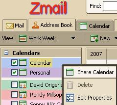 CALENDAR SHARING Inviting Someone to Share Your Calendar From time to time you may find it useful to allow certain colleagues to view or edit your calendar.