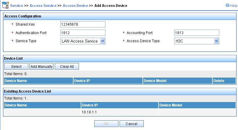 2) Configure the RADIUS server (imc) The following takes the imc (the imc versions are imc PLAT 3.20-R2602 and imc UAM 3.