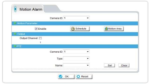 2.7.4 Motion Alarm Configuration Note: Before Recording,