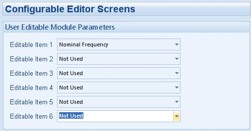 Description Of Controls 5.3.2 CONFIGURABLE EDITOR SCREENS This is the Editor Page which can be configured in the Advanced, Section of the PC software.