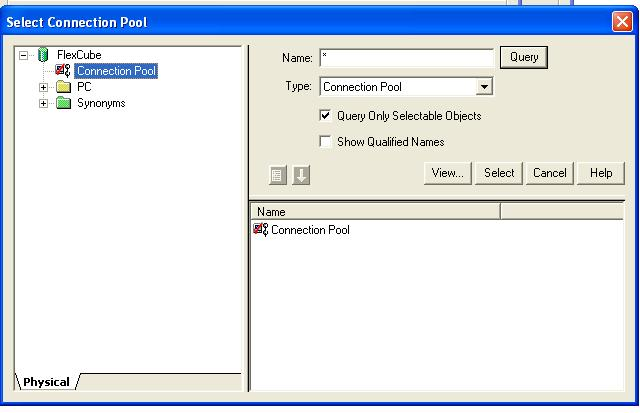 . 7) Double-click Connection Pool or click the Select button to add the