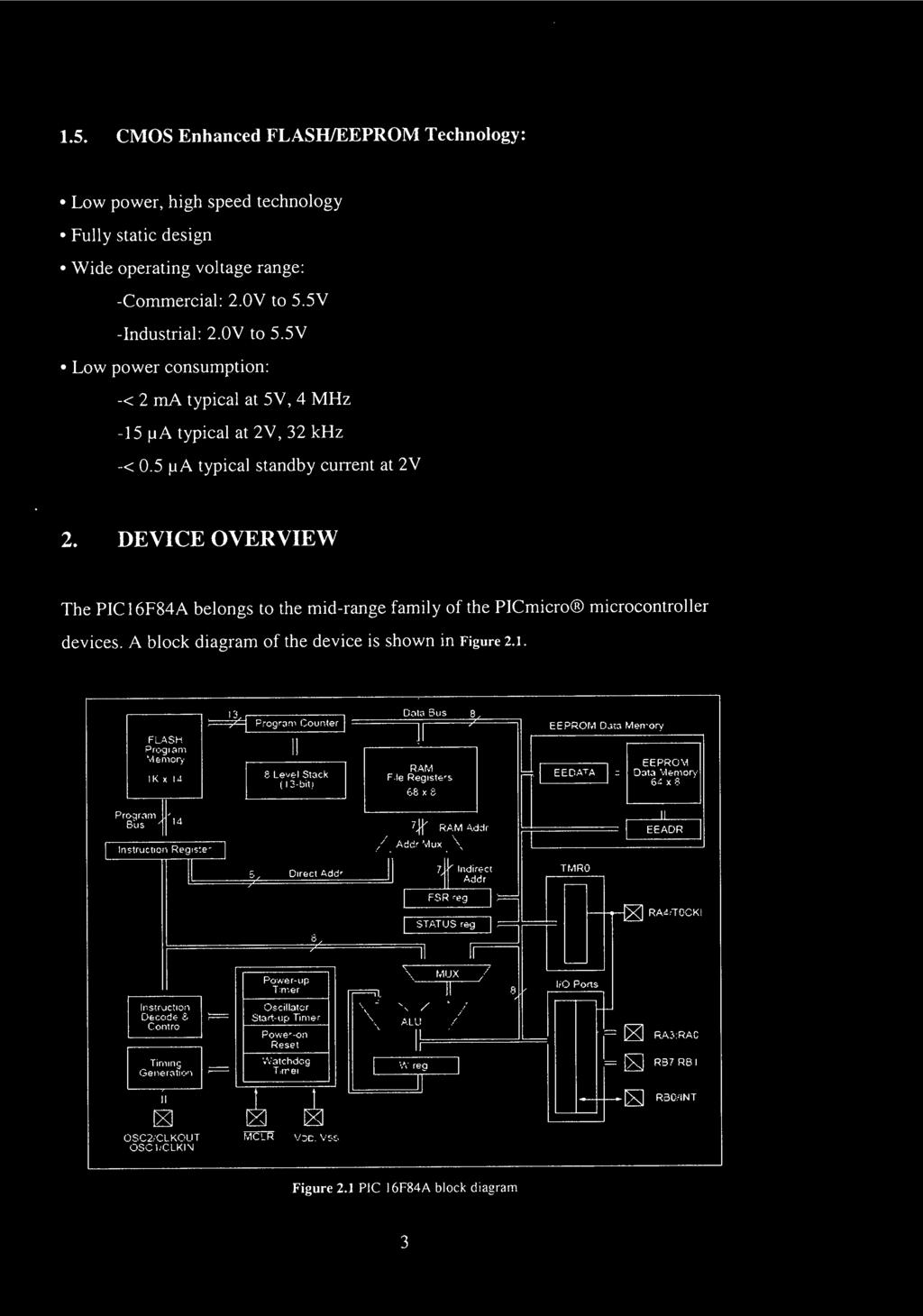 Faculty Of Engineering Pdf D010 Led Driver Wiring Diagram Device Overview The Pic16f84a Belongs To Mid Range Family Picmicro Microcontroller Devices